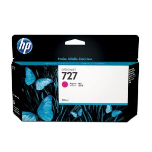 HP 727 Magenta Ink Cartridge - 130ml - for HP DesignJet T920, T930, T1500, T1530 Printers & T2500, T2530 MFPs - B3P20A