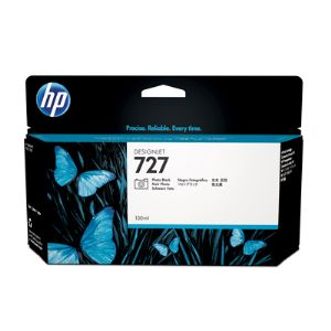 HP 727 Photo Black Ink Cartridge 130ml B3P23A for HP DesignJet T920, T930, T1500, T1530 Printers & T2500, T2530 MFPs