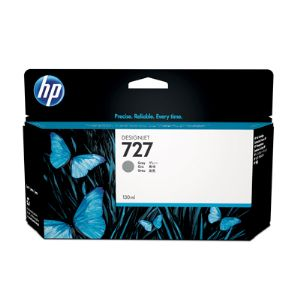 HP 727 Grey Ink Cartridge 130ml B3P24A for HP DesignJet T920, T930, T1500, T1530 Printers & T2500, T2530 MFPs