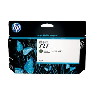 HP 727 Matte Black Ink Cartridge - 300ml - Extra Large High Capacity - for HP DesignJet T920, T930, T1500, T1530 Printers & T2500, T2530 MFPs
