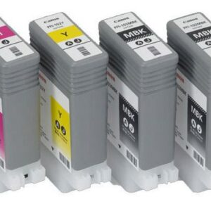 Canon PFI-102 / PFI-104 Inks - Full Set of 6 x 130ml Ink Cartridges - for Canon iPF650, iPF655, iPF750, iPF755, iPF760, iPF765 printers