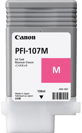 Canon PFI-107M Printer Ink Cartridge - Magenta Ink Tank - 130ml 6707B001AA - for Canon iPF670, iPF680, iPF685, iPF770, iPF780 & iPF785 printers available from stock for immediate dispatch from Graphic Design Supplies Ltd