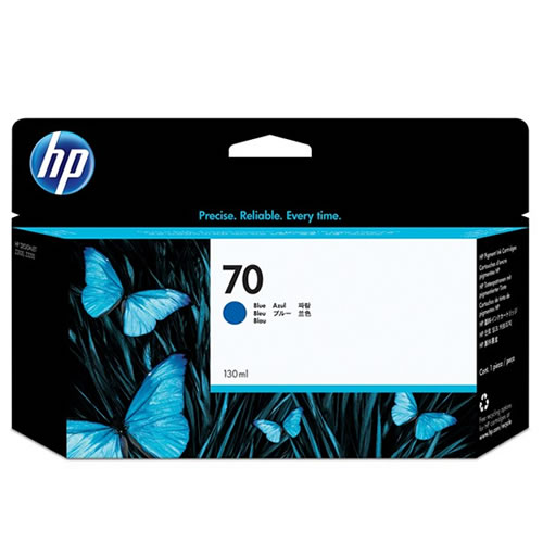 HP 70 Blue Ink Cartridge - 130ml Ink Tank - for HP DesignJet Z3100 & Z3200 Printers - C9458A - express delivery from GDS - Graphic Design Supplies Ltd