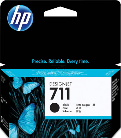 HP 711 Black Ink Cartridge - 38ml Ink Tank - for HP DesignJet T120, T125, T130, T520, T525 & T530 Printers - CZ129A - express delivery from GDS - Graphic Design Supplies Ltd