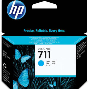 HP 711 Cyan Ink Cartridge - 29ml Ink Tank - for HP DesignJet T120, T125, T130, T520, T525 & T530 ePrinters - CZ130A