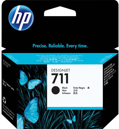 HP 711 Black Ink Cartridge - 80ml Ink Tank - for HP DesignJet T120, T125, T130, T520, T525 & T530 Printers - CZ133A - express delivery from GDS - Graphic Design Supplies Ltd