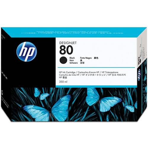 HP 80 Black Ink Cartridge 350ml C4871A