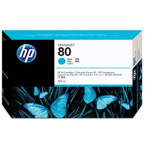 HP No 80 Cyan Ink Cartridge 350ml C4846A