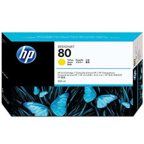 HP No 80 Yellow Ink Cartridge 350ml C4848A