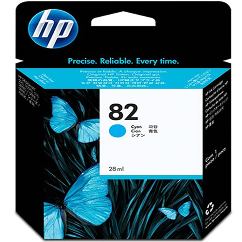 HP 82 Cyan Printer Ink Cartridge 69ml C4911A
