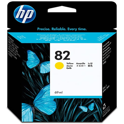 HP 82 Yellow Ink Cartridge 69ml C4913A