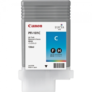 Canon PFI-101C Cyan Ink Cartridge - 130ml - 0884B001AA - for Canon iPF5000, iPF6000S Printers - express delivery from GDS - Graphic Design Supplies Ltd