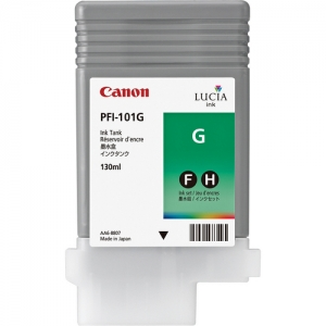 Canon PFI-101G Green Ink Cartridge - 130ml - 0885B001AA - for Canon iPF5000, iPF5100, iPF6100, iPF6200 Printers - express delivery from GDS - Graphic Design Supplies Ltd