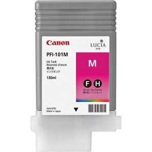 Canon PFI-101M Magenta Ink Cartridge - 130ml - 0885B001AA - for Canon iPF5000, iPF6000S Printers - express delivery from GDS - Graphic Design Supplies Ltd