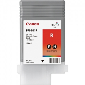 Canon PFI-101R Red Ink Cartridge - 130ml - 0889B001AA - for Canon iPF5000, iPF5100, iPF6100, iPF6200 Printers - express delivery from GDS - Graphic Design Supplies Ltd