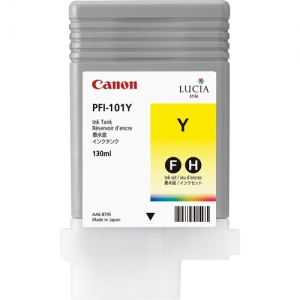 Canon PFI-101Y Yellow Ink Cartridge - 130ml - 0886B001AA - for Canon iPF5000, iPF5100, iPF6000S, iPF6200 Printers - express delivery from GDS - Graphic Design Supplies Ltd