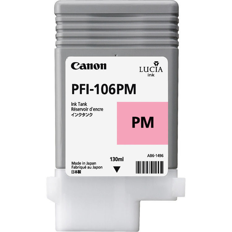 Canon PFI-106PM Photo Magenta Ink Cartridge - 130ml - 6626B001AA - for Canon iPF6300, iPF6300S, iPF6350, iPF6400, iPF6400S, iPF6450 - next day delivery from GDS - Graphic Design Supplies Ltd