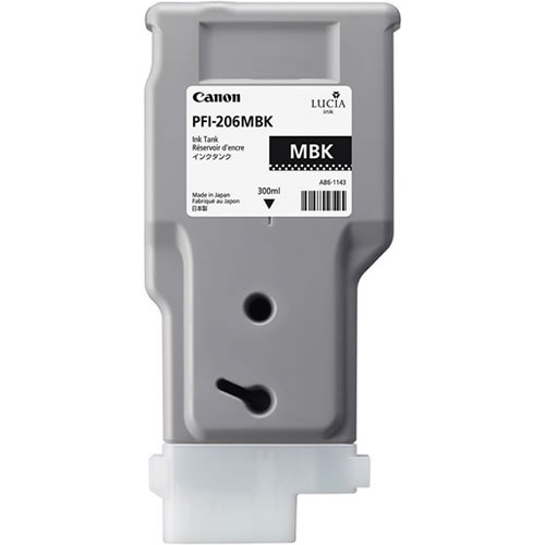Canon PFI-206MBK Printer Ink Cartridge - Matte Black Ink Tank - 300ml - 5302B001AA - for Canon iPF6400, iPF6400S, iPF6400SE, iPF6450 Printers - express delivery from GDS - Graphic Design Supplies Ltd