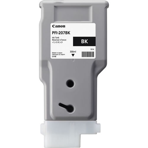Canon PFI-207MBK Matte Black Ink Cartridge - 300ml - 8788B001AA - for Canon iPF680, iPF685, iPF780, iPF785 Printers