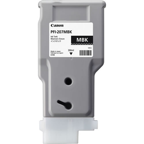 Canon PFI-207MBK Matte Black Ink Cartridge - 300ml - 8788B001AA - for Canon iPF680, iPF685, iPF780, iPF785 Printers - express delivery from GDS - Graphic Design Supplies