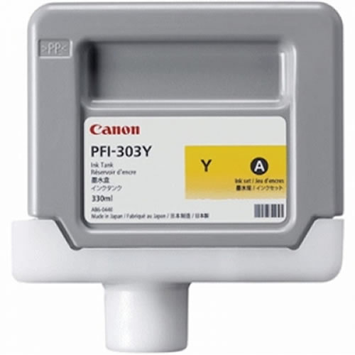 Canon PFI-303Y Yellow Ink Cartridge - 330ml Ink Tank - for Canon iPF810, iPF815, iPF820 & iPF825 Printers - 2961B001AA - express delivery from GDS - Graphic Design Supplies Ltd