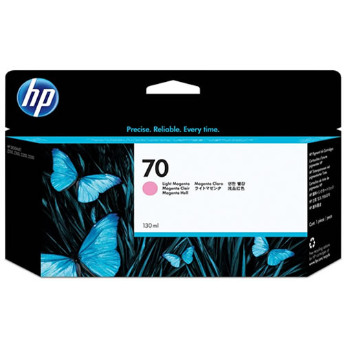 HP 70 Light Magenta Ink Cartridge - 130ml Ink Tank - for HP DesignJet Z2100, Z3100, Z3200 & Z5200 Printers - C9455A - express delivery from GDS - Graphic Design Supplies Ltd