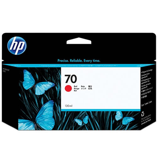 HP 70 Red Ink Cartridge - 130ml Ink Tank - for HP DesignJet Z3100 - C9456A - express delivery from GDS - Graphic Design Supplies Ltd