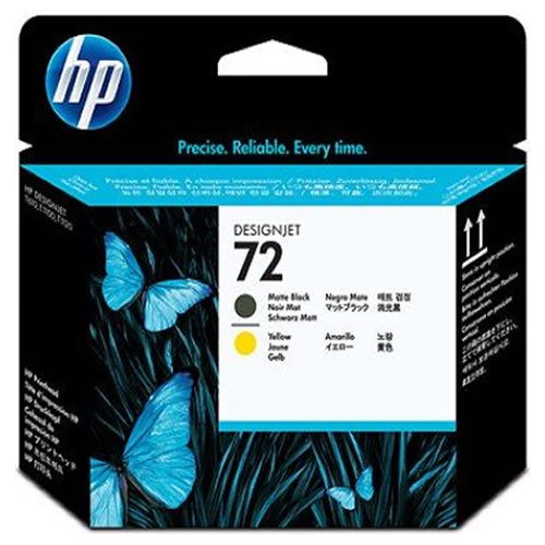 HP 72 Matte Black and Yellow Printhead C9384A
