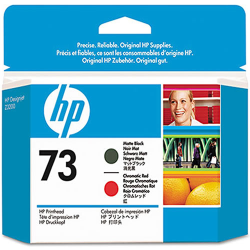 HP 73 Matte Black and Chromatic Red Printhead CD949A