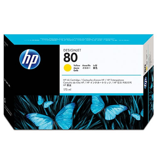 HP No 80 Yellow Ink Cartridge 175ml C4873A