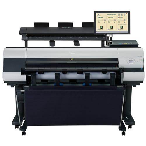 Canon M40 scanner shown with Canon imagePROGRAF iPF840 Printer - design your own single footprint MFP (not included)