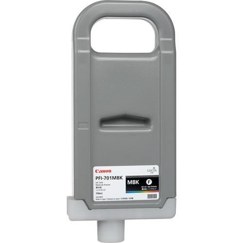 Canon PFI-701MBK Printer Ink Cartridge - Matte Black Ink Tank - 700ml - for Canon iPF8000, iPF8000S, iPF9000, iPF9000S - 0899B005AA