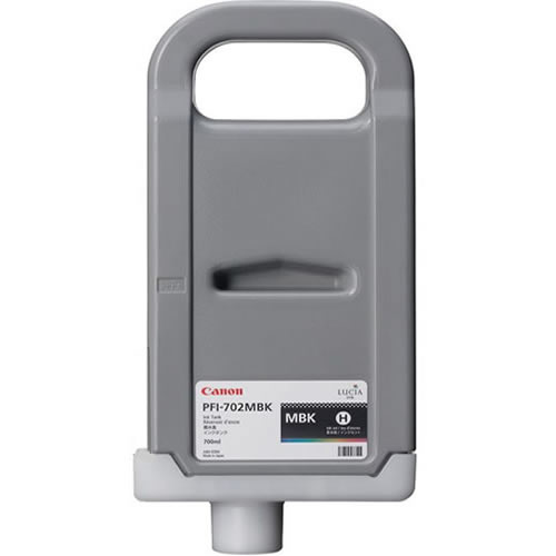 Canon PFI-702MBK Matte Black - 700ml Ink Tank - for Canon iPF8100 & iPF9100 Printers - 2219B005AA - express delivery from GDS - Graphic Design Supplies Ltd