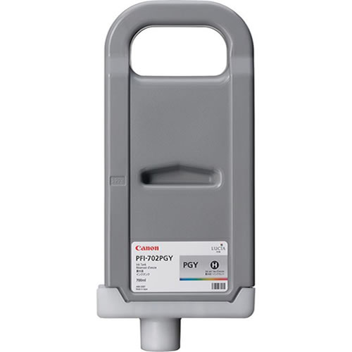 Canon PFI-702PGY Photo Grey - 700ml Ink Tank - for Canon iPF8100 & iPF9100 Printers - 2222B005AA - express delivery from GDS - Graphic Design Supplies Ltd