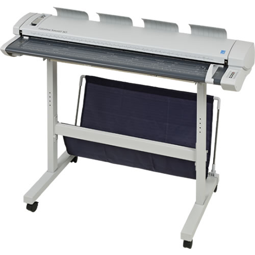 Colortrac SmartLF SG36e 36 inch A0 Express High Speed Colour CCD Wide Format Scanner shown with floor stand (not included)