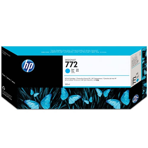 HP 772 Cyan Ink Cartridge 300ml CN636A