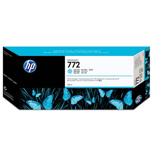 HP 772 Light Cyan Ink Cartridge 300ml CN632A