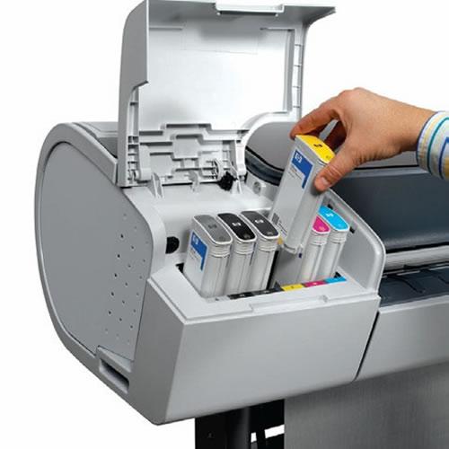 Hewlett Packard HP Designjet T790PS 24 inch A1 Postcript Plotter - ink loading
