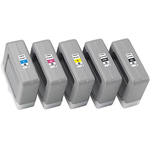 Set of 5 x 330ml Canon PFI-307 Ink Cartridges - 9810B001AA - 9814B001AA - for Canon iPF830, iPF840, iPF850 - express delivery from GDS - Graphic Design Supplies Ltd