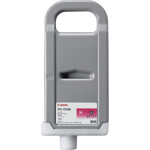 Canon PFI-703M Magenta - 700ml Ink Tank - for Canon iPF810, iPF815, iPF820, & iPF825 Printers - 2965B001AA - express delivery from GDS - Graphic Design Supplies Ltd