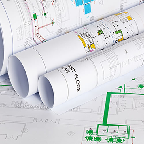 GDS Standard Inkjet CAD Paper Roll 90gsm 841mm x 50mt A0 for plotting technical drawings