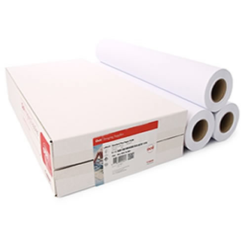 """Canon Canon Group Oce IJM113 Premium Matt Coated Paper Roll 90gsm - 24"""" inch A1 610mm x 45mt - 3 roll pack - 97003451"""