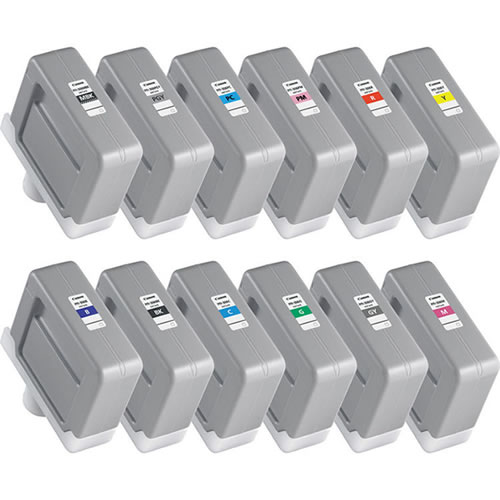 Set of 12 x 330ml Canon PFI-306 Ink Cartridges -12 x 330ml Ink Tanks - for Canon iPF8300, iPF8400 & iPF9400 Printers - express delivery from GDS - Graphic Design Supplies Ltd
