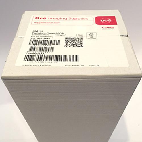 Canon IJM119 Premium Matt Coated Paper Roll 100gsm 24 inch A1 610mm x 45mt 97027649 - Actual Box Image