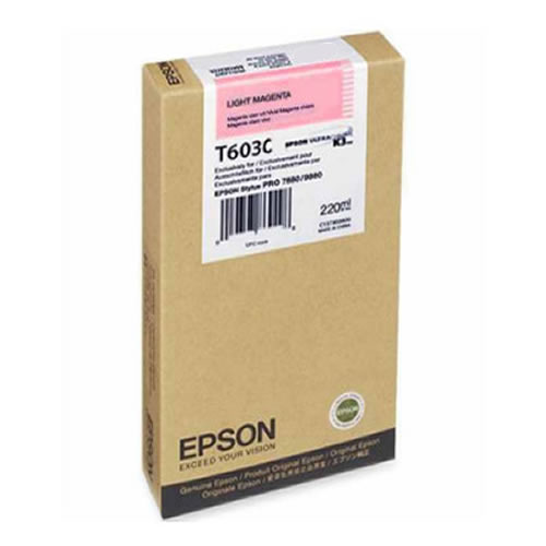 Epson T603C00 Light Magenta Ink Tank 220ml Cartridge C13T603C00 for Epson Stylus Pro 7800, 9800