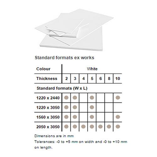 Foamalite X-Press PVC Foam Sheet - Printable Foamboard - 3mm 1220mm x 2440mm - Filmed - Single Sheet