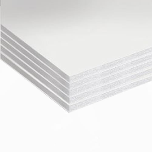 GDS Budget White Foamboard 10mm A0 841mm x 1189mm Pack 5 Sheets