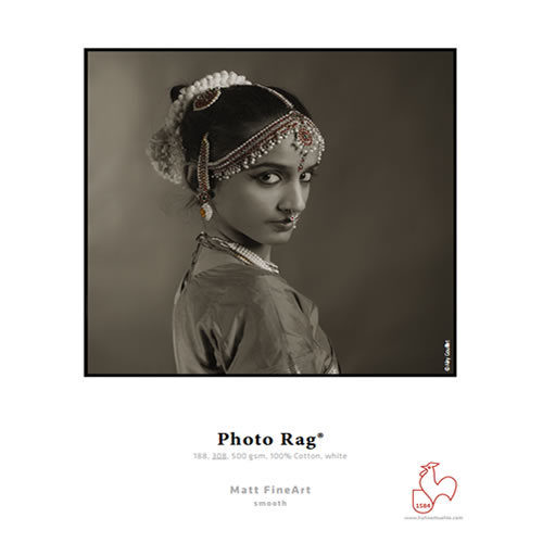 "Hahnemuhle Photo Rag 188gsm - Digital Fine Art Cotton Paper Media Roll - 24"" inch 610mm x 12mt - 10640250"