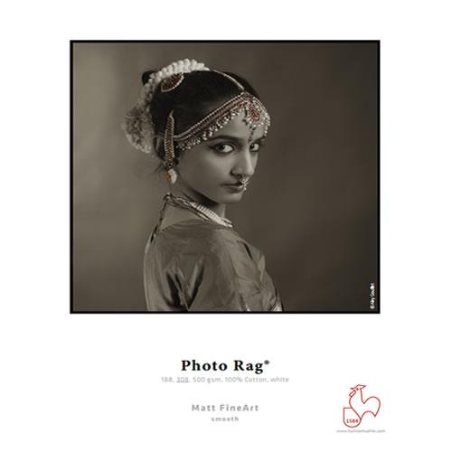"Hahnemuhle Photo Rag 188gsm - Digital Fine Art Cotton Paper Media Roll - 13"" inch x 12mt - 10640239"