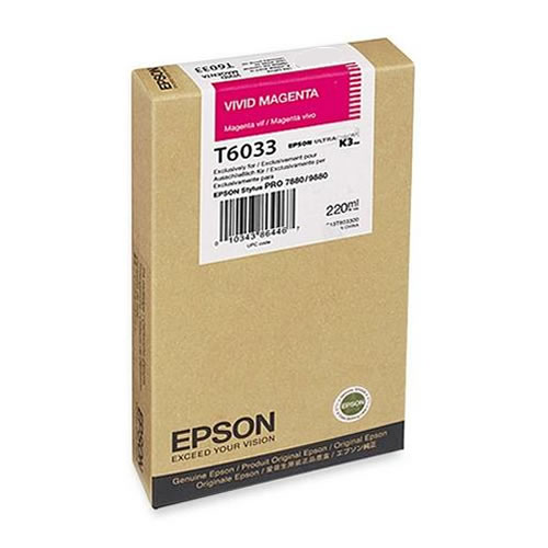 Epson T603300 Vivid Magenta Ink Tank 220ml Cartridge C13T603300 for Epson Stylus Pro 7880 & 9880 printers